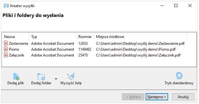 screen: menu kontekstowe, krok 3